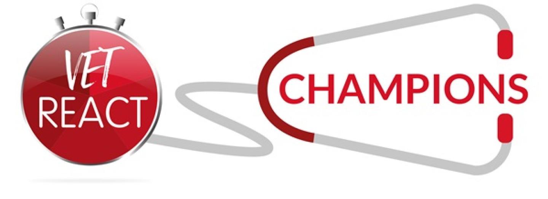 Vet REACT Colic Champion Logo